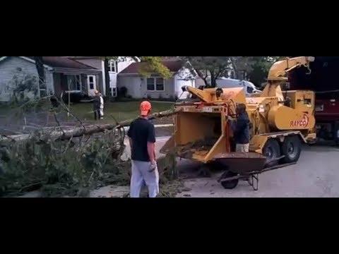 Big Vermeer Wood Chipper With Log Loader Funnycat Tv