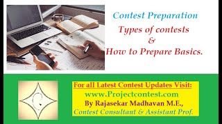 Contest Preparation: Types of contests & How to Prepare Basics (2019) #projectcontest