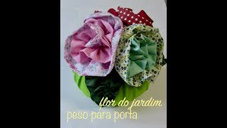 Peso para porta com flores de tecido – door weight with flowers