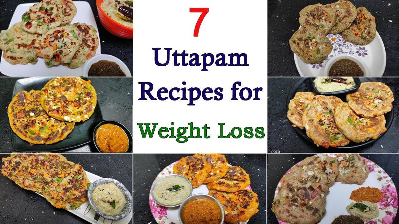 7 Uttapam Recipes for Weight Loss - Easy, Quick and Low calorie - Indian Vegetarian Recipe
