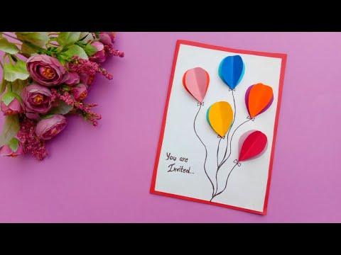 birthday invitation card birthday card birthday party invitation card diy birthday card