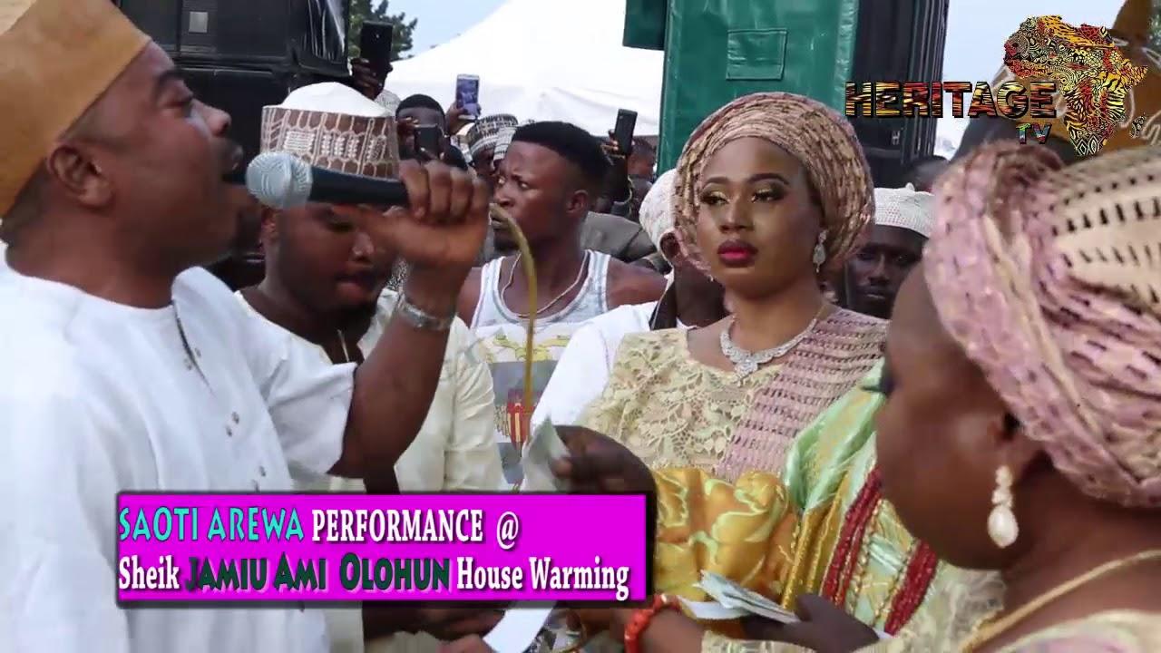 Download SAOTI AREWA performance @ SHEIK JAMIU AMI OLOHUN HOUSE WARMING.