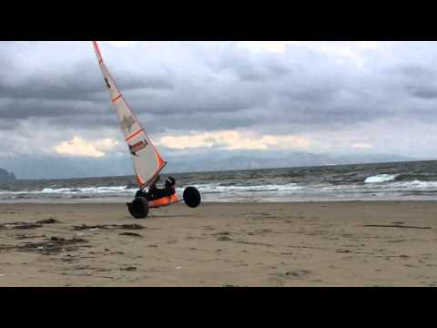Landsailing on the Beach