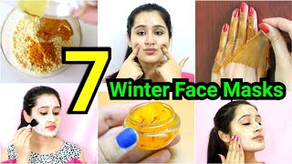 7 Winter HOMEMADE FACE-MASKS for DRY SKIN, DULL SKIN, ANTI - AGING |- COMPILATION of face masks