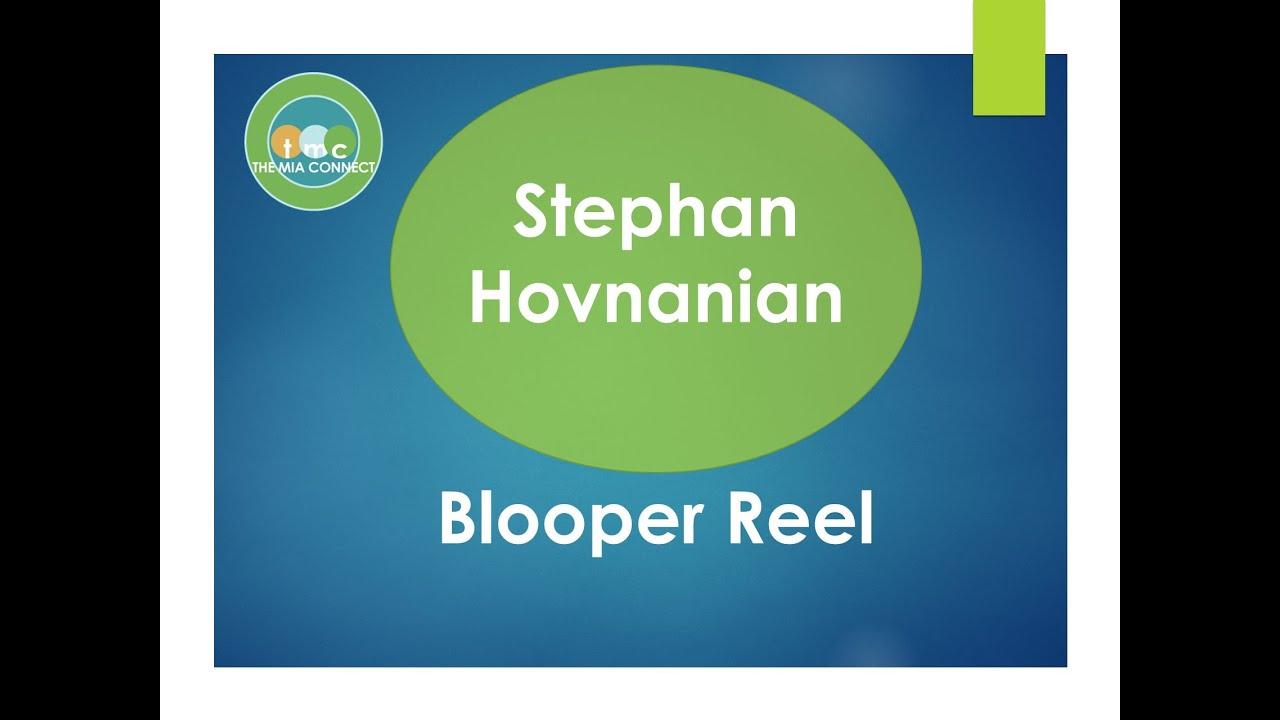 Brilliant Stephan Hovnanian  The BlooperGoober Reel  YouTube
