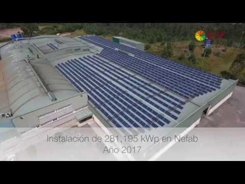 Instalación de autoconsumo industrial en NEFAB - EDF Solar