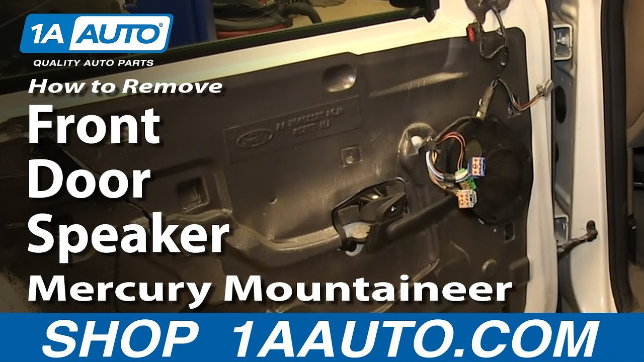How To Remove Front Door Speaker 02 05 Mercury Mountaineer