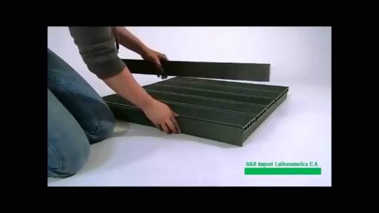 Construcci n de tarima y de escalera en wpc doovi for Construccion de escaleras