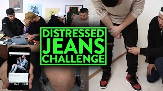 DISTRESSED DENIM JEANS CHALLENGE! w/ Richie Le, Tan Tang