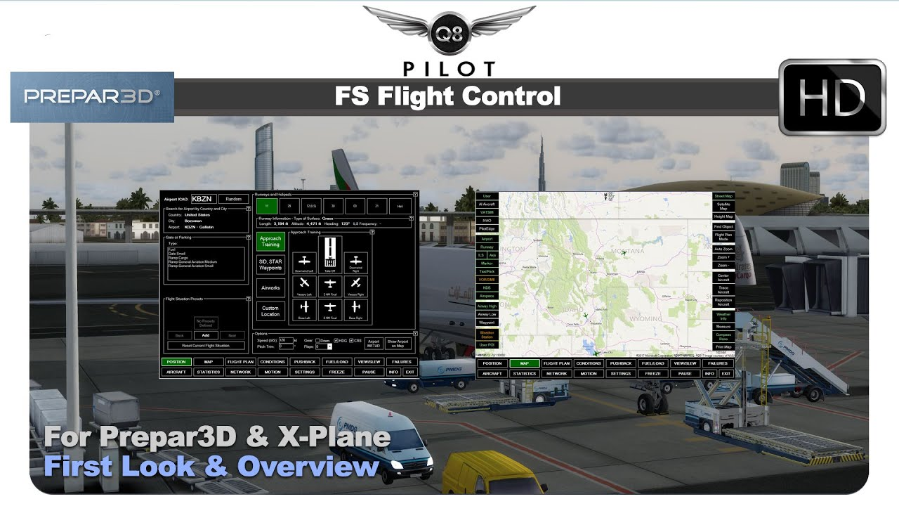 FS Flight Control For Prepar3D and X-Plane | First Look and Overview