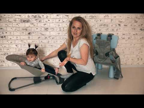 Материнство с ОЛАНТ. Тестируем шезлонг и рюкзак Babybjorn C Алиной