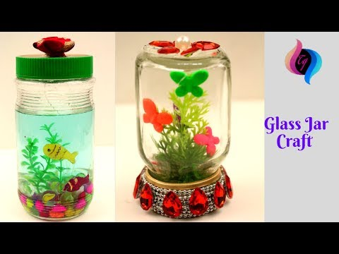 Glass Jar Crafts & Reuse Ideas - 2 Uses For Glass Jars - Outstanding Craft Projects Using Glass Jars
