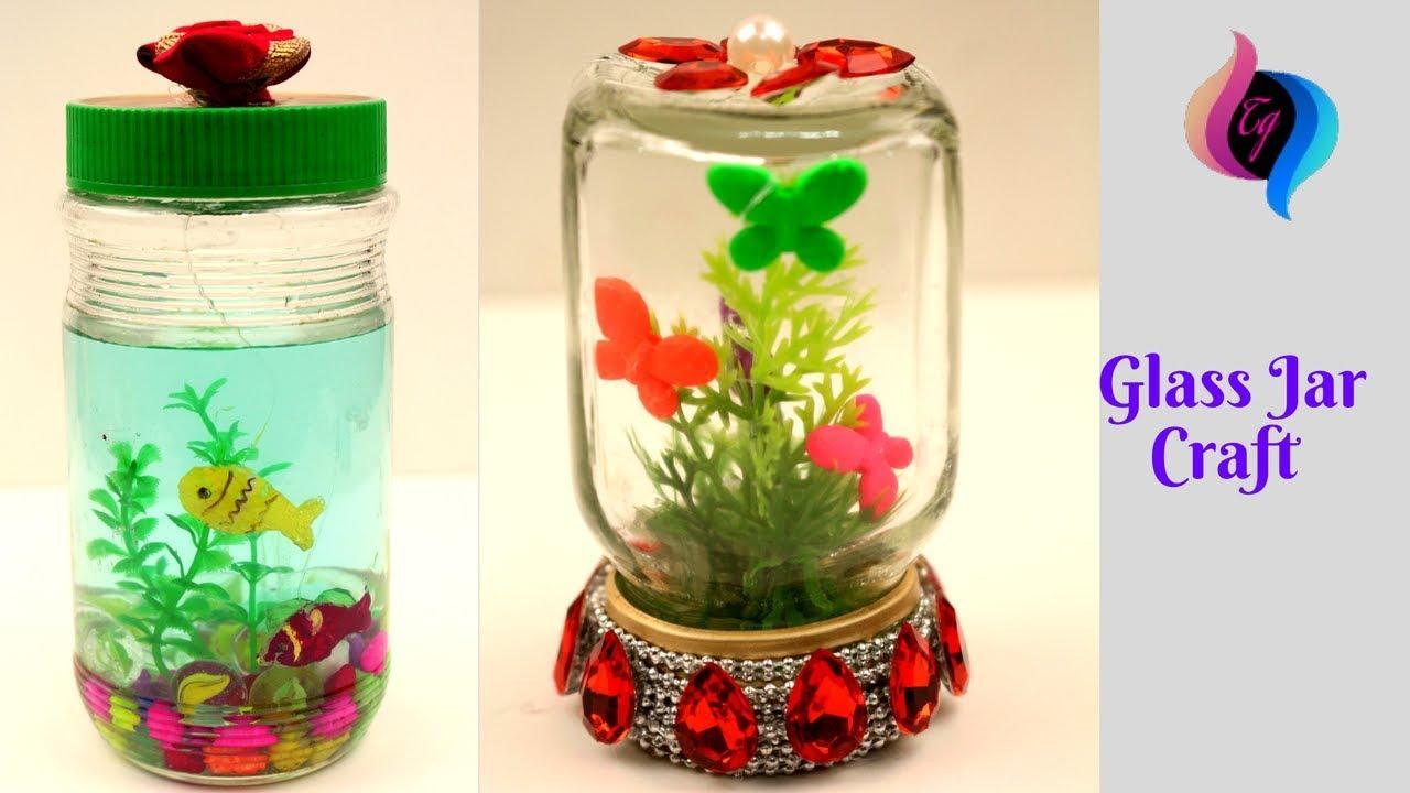 glass jar crafts reuse