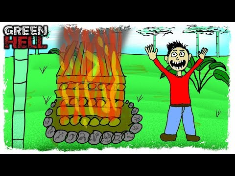 THIS IS THE BEST SURVIVAL GAME EVER MADE | Green Hell | Fire Challenge