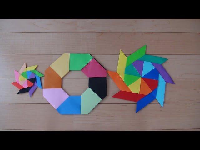 簡単 折り紙:動く折り紙 折り方-youtube.com