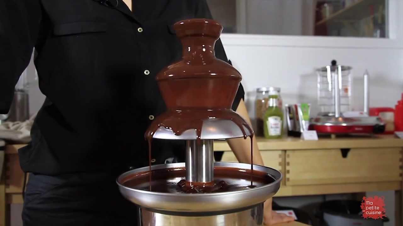tutoriel fontaine de chocolat youtube