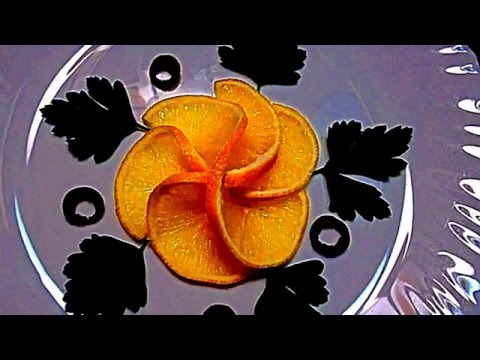 Украшения из лимона! Decoration of lemon! Украшения из фруктов! Decoration of fruits!