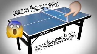 Como fazer uma mesa de ping pong no minecraft pocket edition