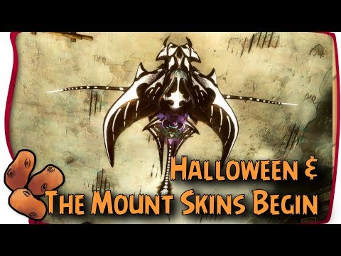 Guild Wars 2 -  The First Mount Skins Just Arrived | The Big Path of Fire Halloween Update
