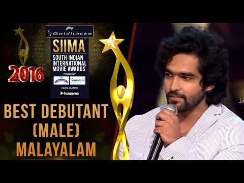 Siima 2016 Best Debutant (Male) Malayalam | Siddarth Menon - Rockstar Movie