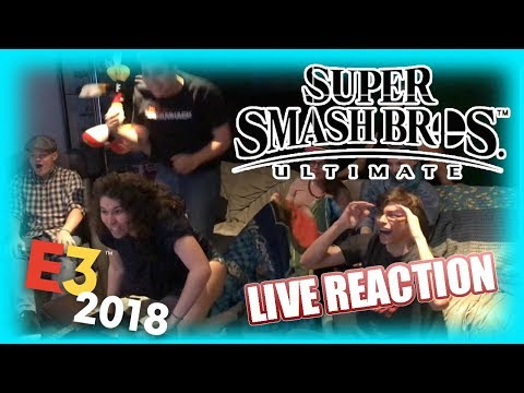 Super Smash Bros. Ultimate - E3 2018 LIVE REACTION - SuperGirlKels