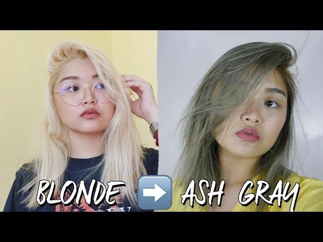 How To Ash Gray Hair Under 900 Pesos Philippines Arah Virtucio Youtube