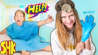 ESCAPE the HOSPITAL Challenge! Sister TRAPPED me in Hospital