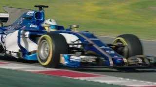 F1 2017 - The Sauber C36 on track in Barcelona