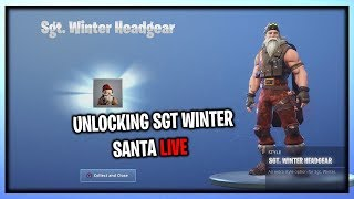 "UNLOCKING THE NEW SGT. WINTER ""SANTA"" SKIN IN FORTNITE (New Stage Unlock Live)"