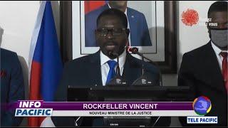 Installation du nouveau ministre de la justice Rockfeller Vincent. - INFO PACIFIC - 10-07-2020