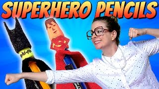 Superhero Pencil Toppers - Batman & Superman | A Cool School Craft W/ Crafty Carol