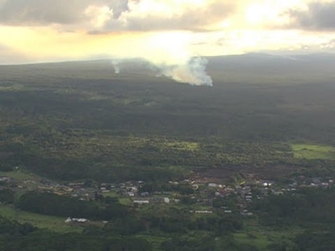 Raw: Lava Flows Near Honolulu Subdivision