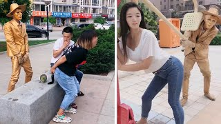 Street Troll - Must Watch New Funny😂 😂 Part 3 - Can't stop laughing【Laugh torn mouth】