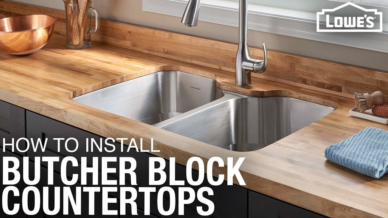 How To Install Butcher Block Countertops Diy Kitchen