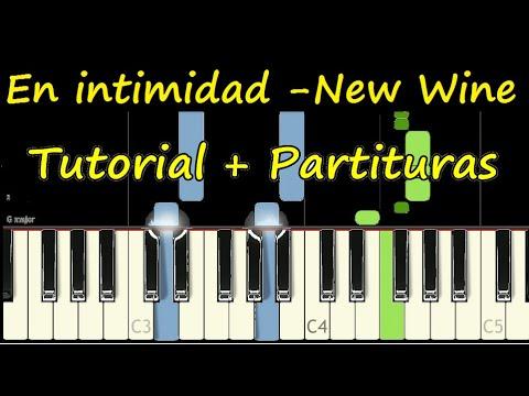 EN INTIMIDAD New Wine Piano Tutorial Cover Facil + Partitura PDF Sheet Music thumbnail