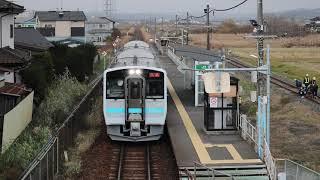 八戸線 キハE130系433D 長苗代駅発車 2018年11月28日