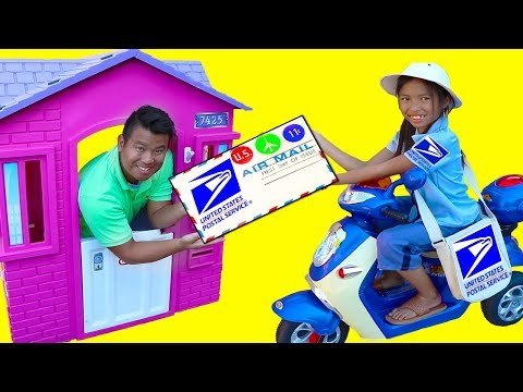 Wendy Pretend Play w/ Post Office Mailbox Kids Dress Up Mail