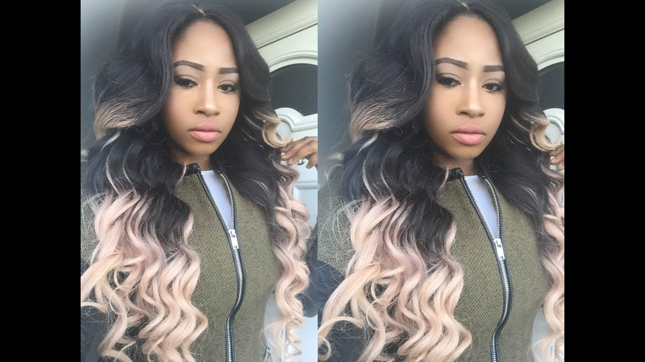 Pastel Pink Ombre By Brazilianweaveblessedluv Youtube