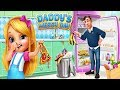 Daddy's Messy Day - Help Daddy While Mommy's Away - Fun Messy House Cleaning Games For Kids