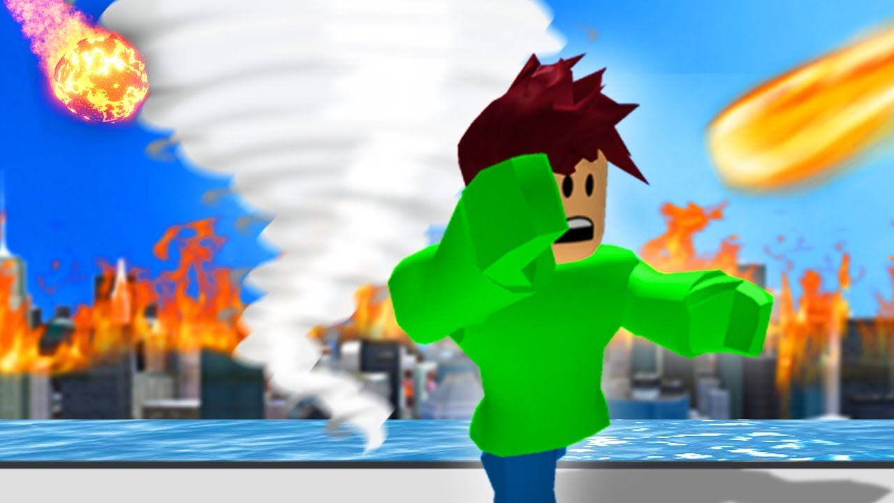 Run From The Tornado Roblox Youtube