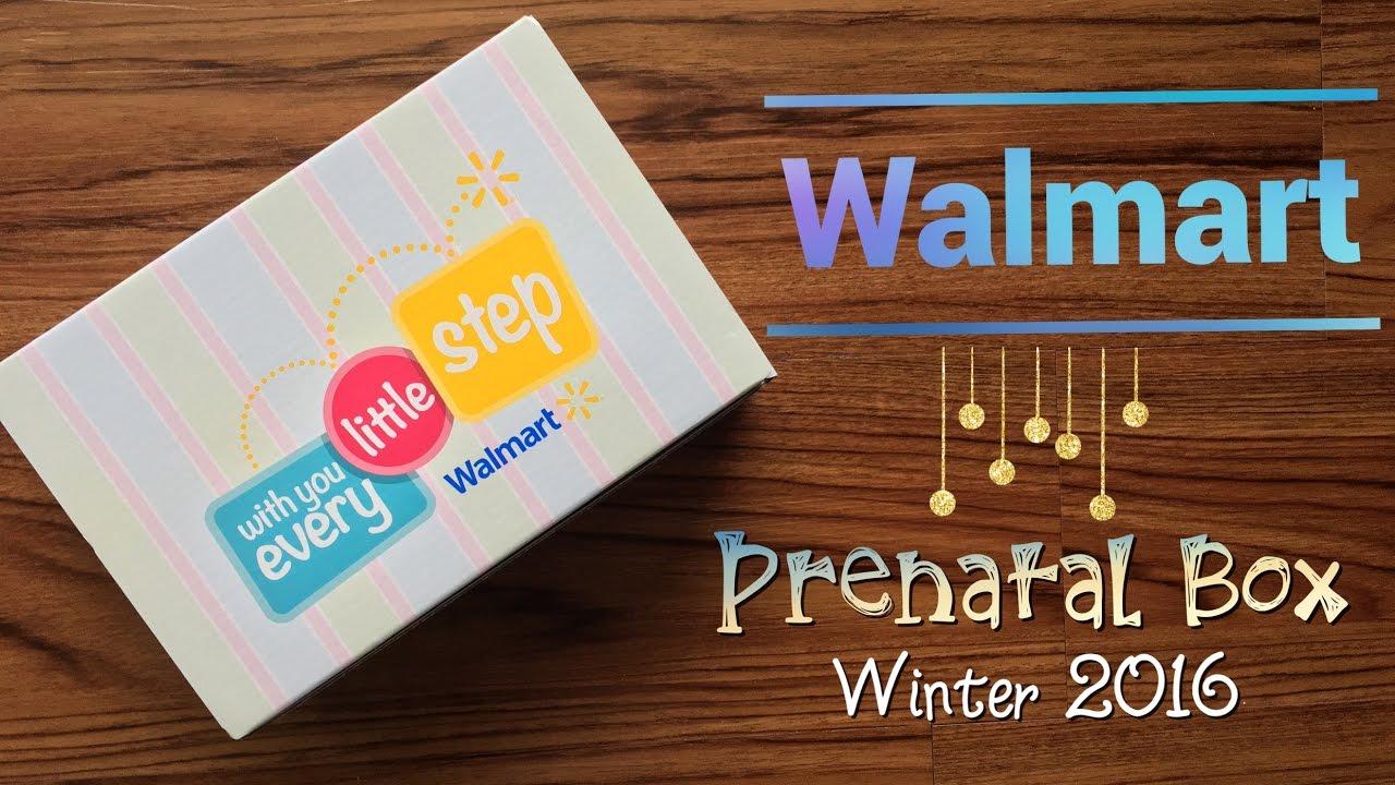 Unboxing Walmart Prenatal Box Winter 2016 Youtube