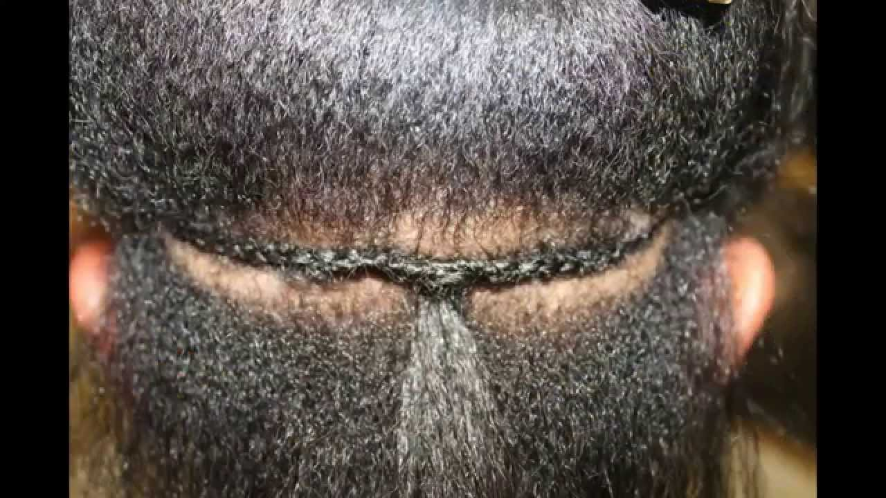 Sew In Individual Row Extensions With Braid Youtube