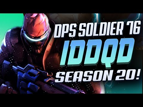 Overwatch Player IDDQD Showing His Soldier 76 Skills! [ SEASON 20 TOP 500 ]