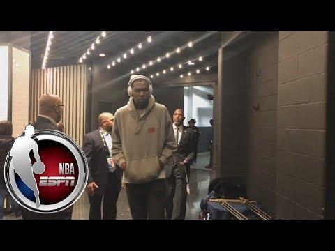 Kevin Durant and Draymond Green arrive at TD Garden ahead of Warriors vs. Celtics | NBA on ESPN