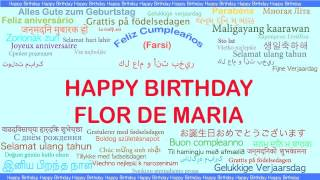FlordeMaria   Languages Idiomas - Happy Birthday