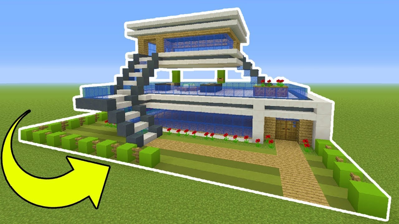 Minecraft Tutorial How To Make An Easy Modern House YouTube