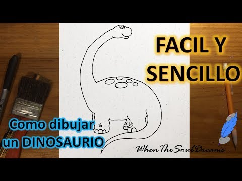 Como Dibujar Un Dinosaurio Cuello Largo (Diplodocus) A Lápiz FÁCIL Y SENCILLO Paso A Paso Explicado