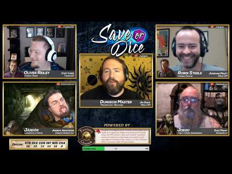 Save or Dice | Episode 1 - Down the Drain | Web DM, Nerdarchy, Taking20, DawnforgedCast