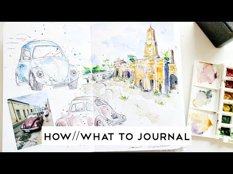 Travel Journal Tips #3 · WHAT AND HOW TO JOURNAL · semiskimmedmin