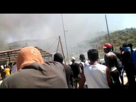 Incendie dans le camp de Moria, à Lesbos